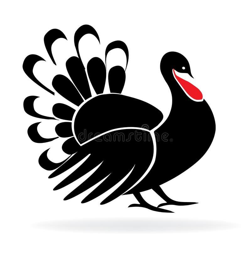 Logo felice di immagine della Turchia di ringraziamento illustrazione vettoriale