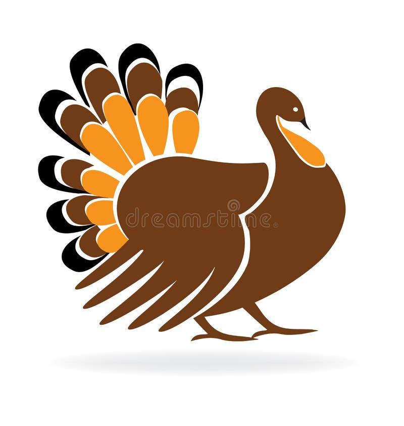 Logo felice di immagine della Turchia di ringraziamento royalty illustrazione gratis