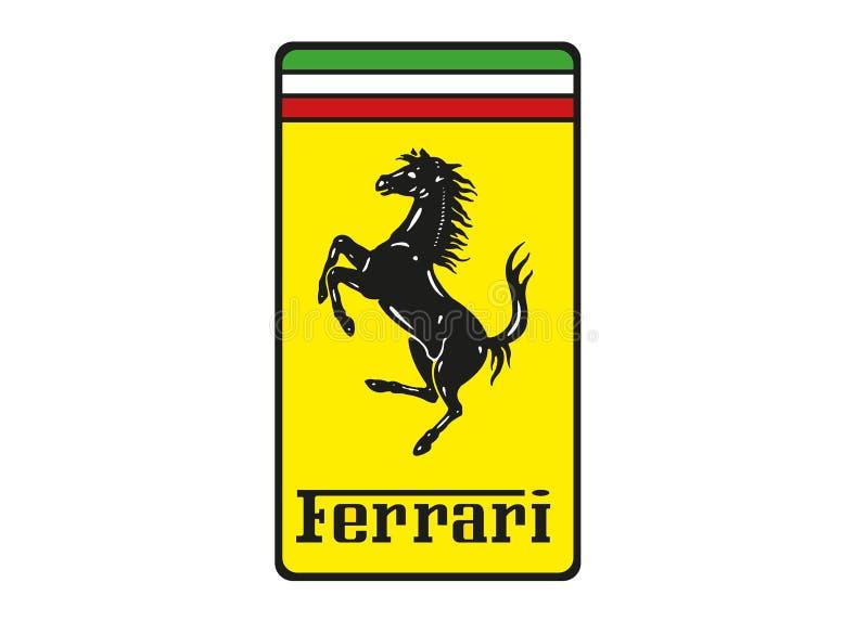 Logo Ferrari illustration libre de droits
