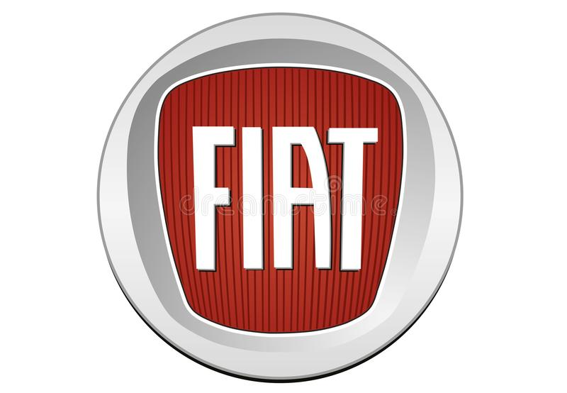 Logo Fiat 2006 stock illustratie