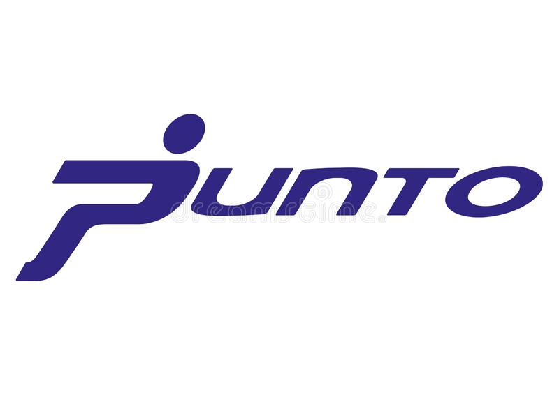 Logo Fiat Punto Old ilustração royalty free