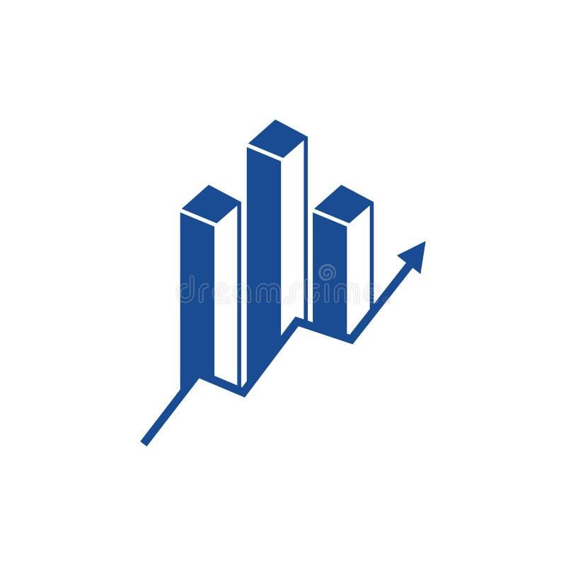 Logo finanziario corporativo Icona di statistiche Segno dell'esperto finanziario illustrazione vettoriale