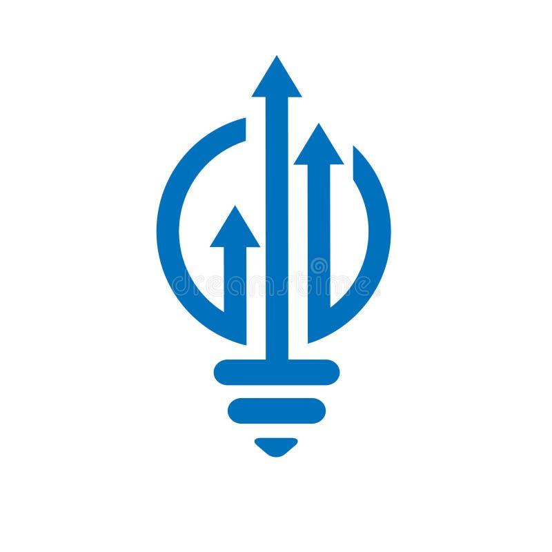 Logo finanziario della lampada della lampadina royalty illustrazione gratis