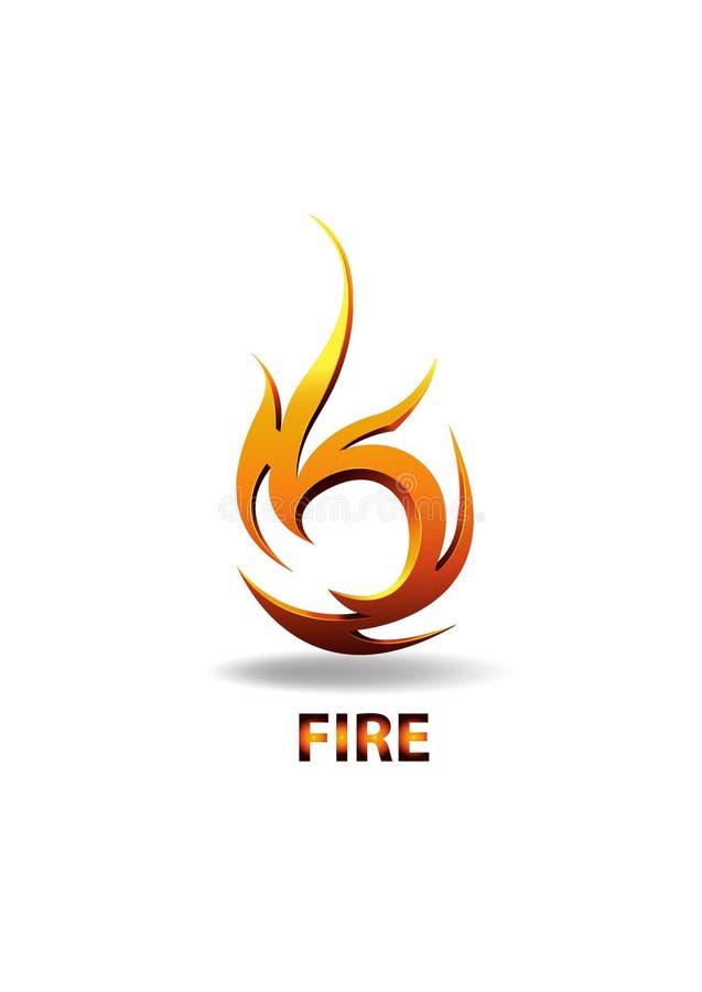 LOGO_FIRE immagine stock