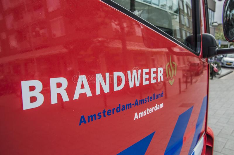 Logo Fire Department Amsterdam The Netherlands royalty free stock photography
