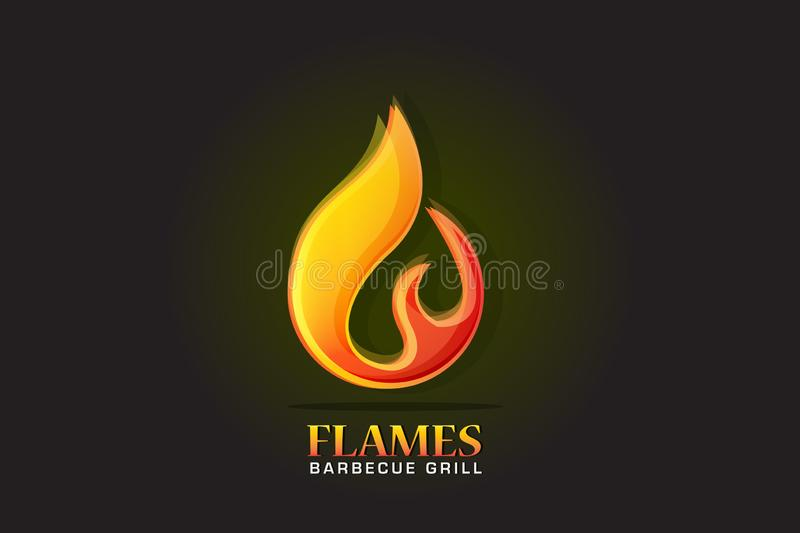 Logo fire flames vector image stock illustration