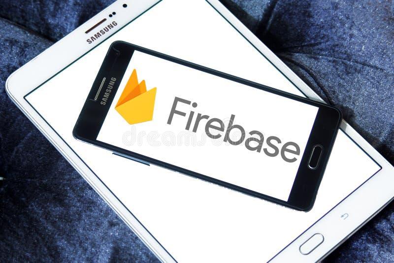 Firebase google logo royalty free stock photos