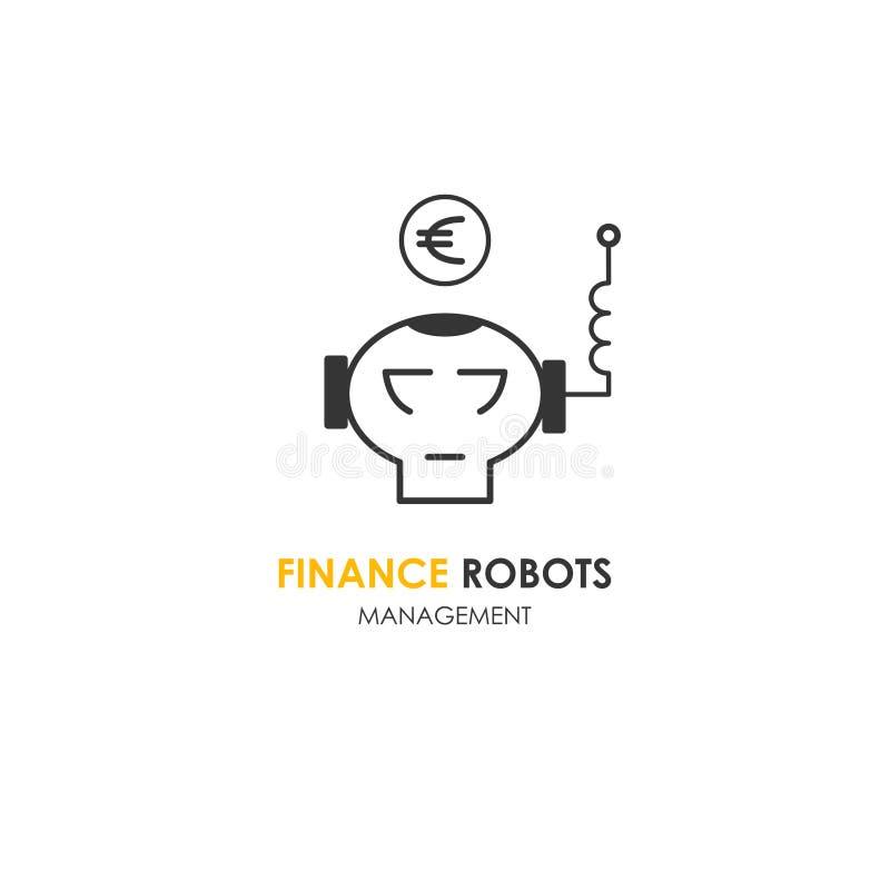 Logo firmy automatyczny finansowy euro ilustracja wektor