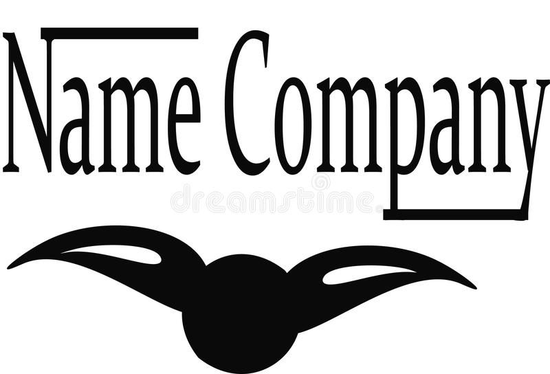 Logo firmy imię fotografia royalty free