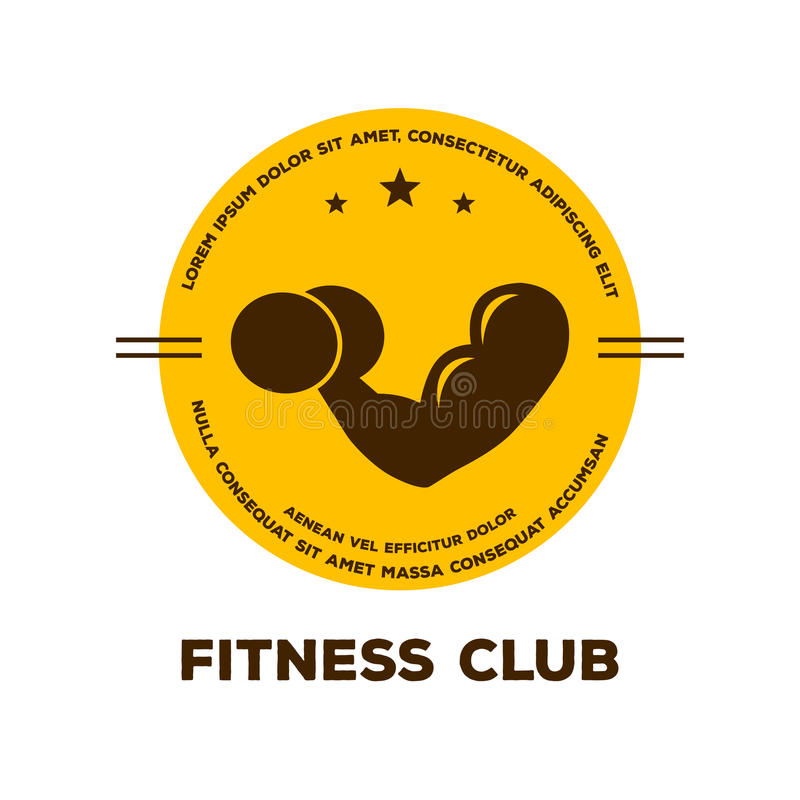 Logo for fitness club. Vector illustration of Logo for fitness club stock illustration