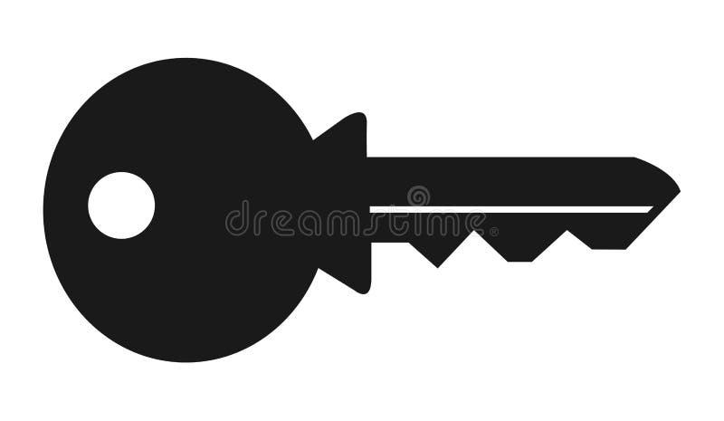 Logo flat simple silhouette isolated icon key on white background royalty free illustration