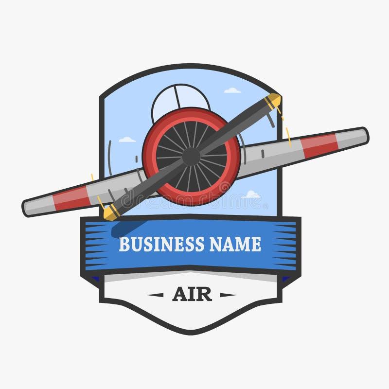 Logo Flight Club royalty-vrije illustratie