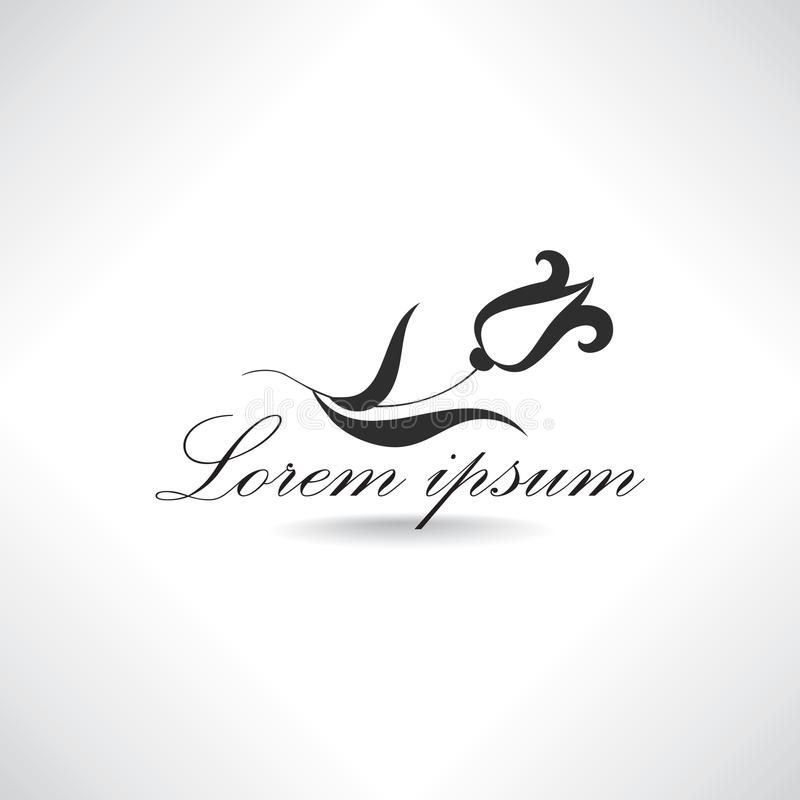 Logo floral Conception de label de station thermale de beauté illustration libre de droits