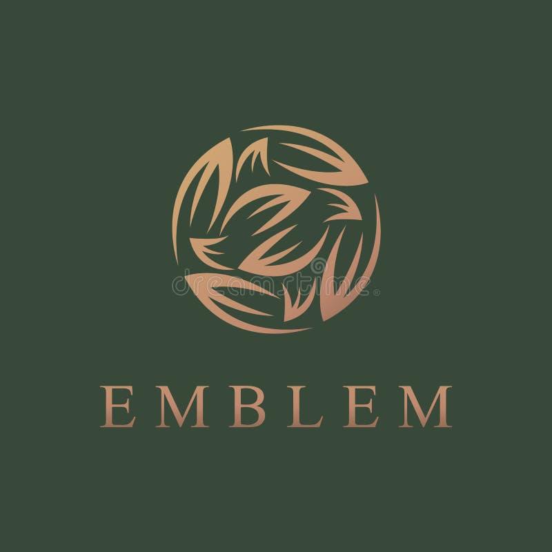 Logo floreale Icona del fiore Emblema floreale Cosmetici, stazione termale, salone di bellezza, decorazione, logo del boutique Lu immagine stock libera da diritti