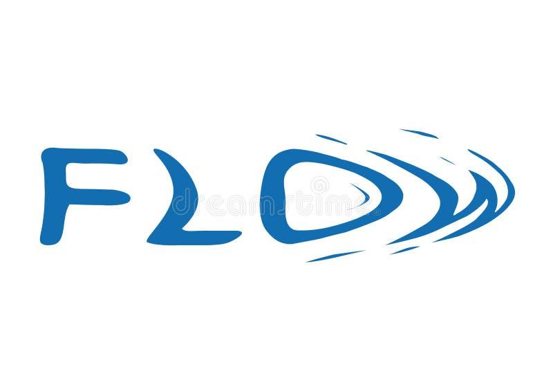Logo Flow. Vector. Blue Logo Flow. Vector illustration stock illustration