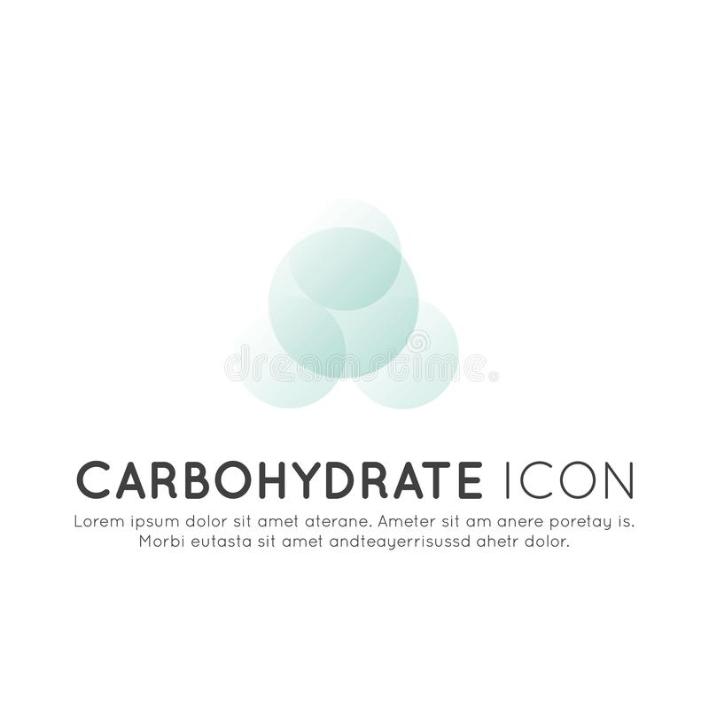 Logo of food supplements, ingredients and vitaments and elements for bio package labels - Carbohydrate. Vector Icon Illustration Logo of food supplements royalty free illustration