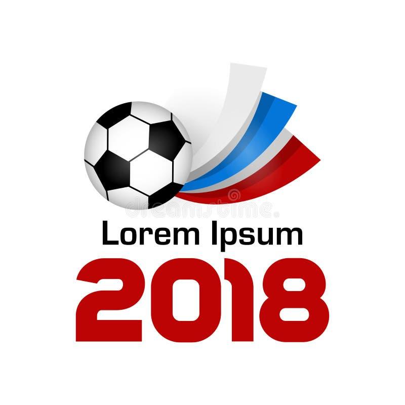 Logo Football Championship 2018 ilustração royalty free