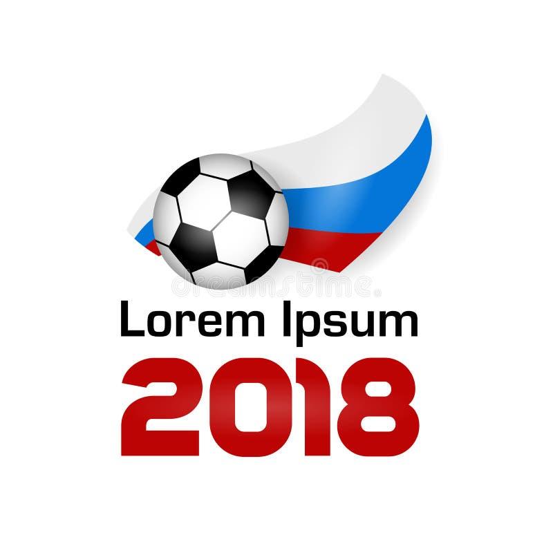 Logo Football Championship 2018 ilustração stock