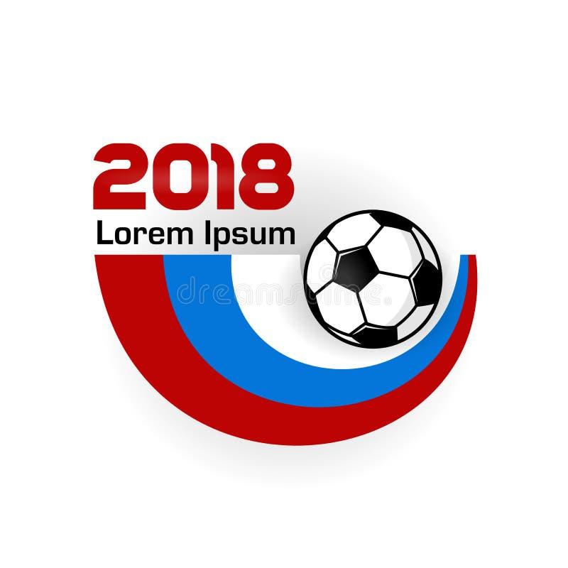 Logo Football Championship 2018 ilustração do vetor