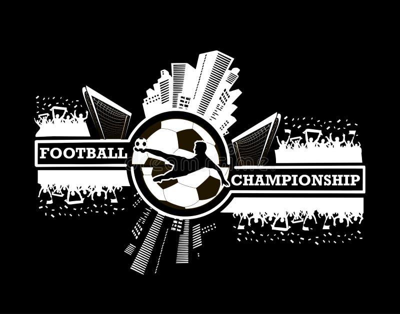 Logo Football Championship ilustração royalty free