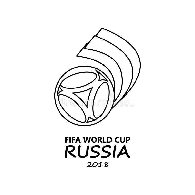 logo of the football world cup russia icon  element of