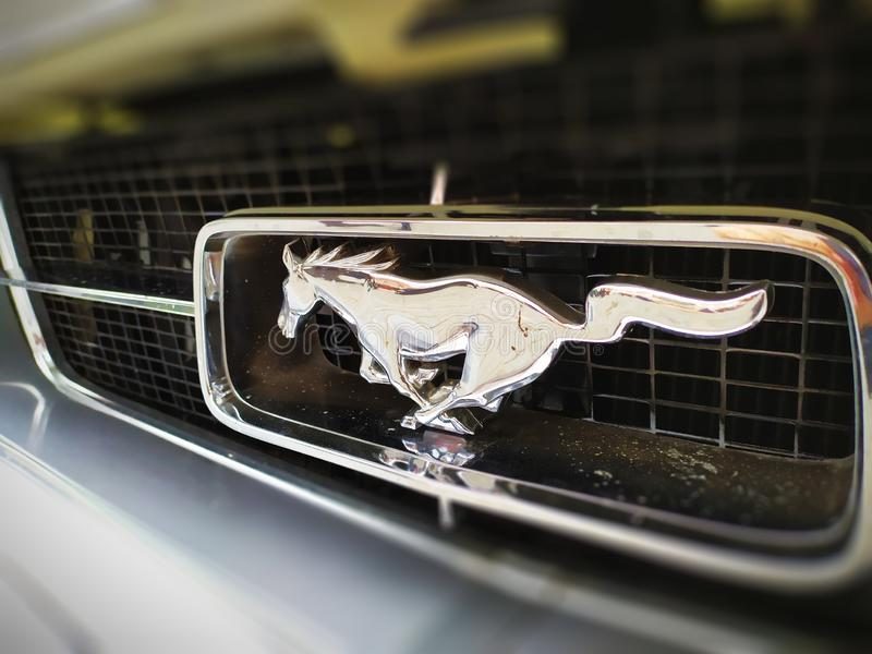 Logo of a ford mustang royalty free stock image