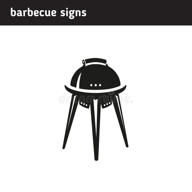 Logo in the form of a barbecue vector illustration