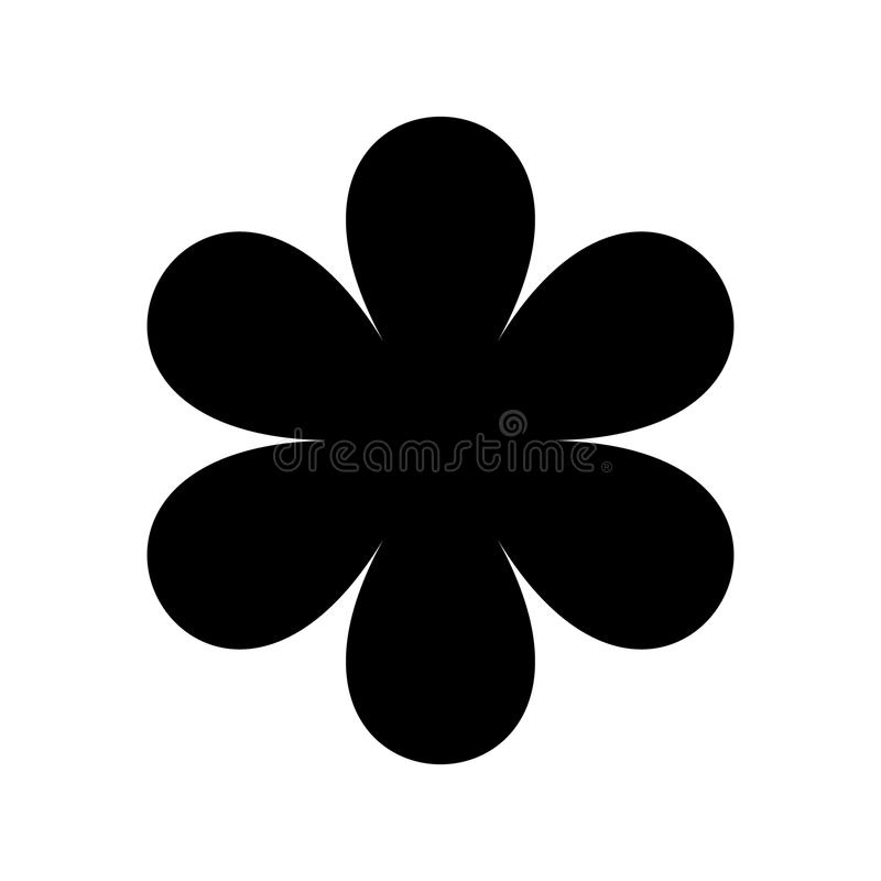 Black Flower Silhouette Stock Vector Illustration Of: Logo In The Form Of A Black Silhouette Of A Flower With