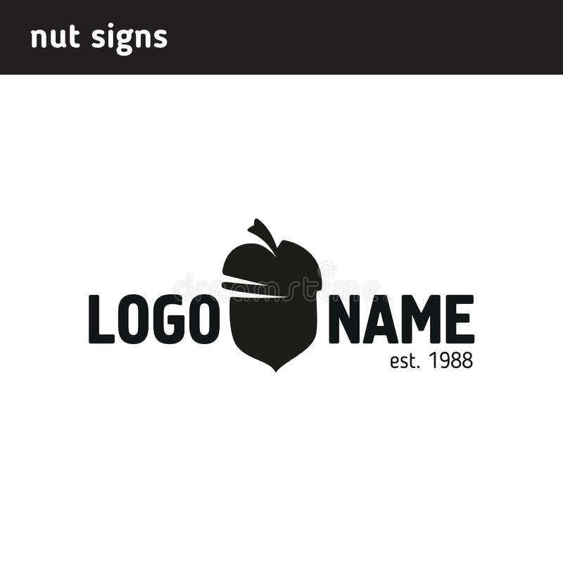 The logo in the form of a nut. Can be used as a letter u royalty free illustration