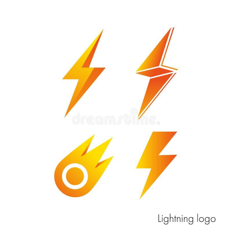 Logo in Form von Blitz vektor abbildung