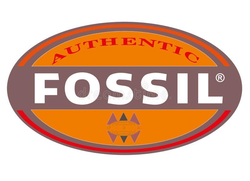 Logo Fossil ilustração stock