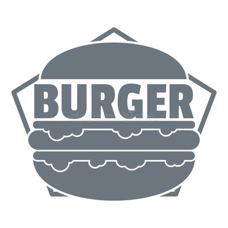Logo frais d'hamburger, style gris simple illustration de vecteur