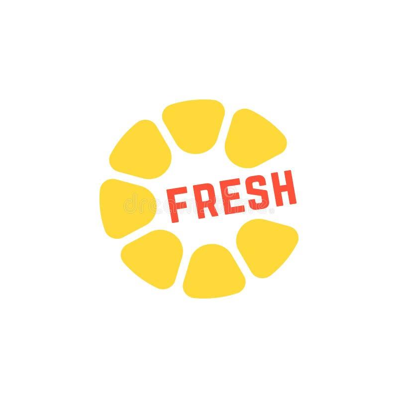 Logo frais jaune simple de jus illustration stock