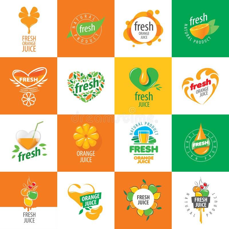 Logo of fresh juice royalty free illustration