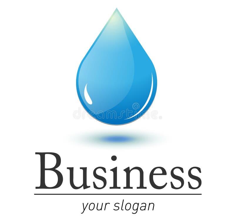 Logo fresh water drop royalty free illustration