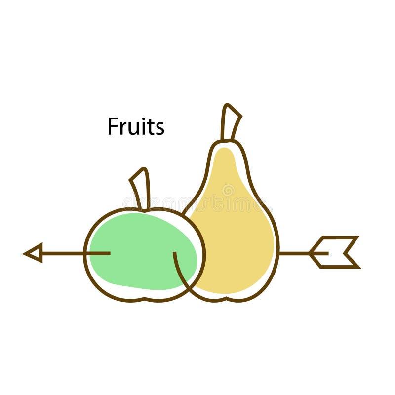Logo fruits stock images