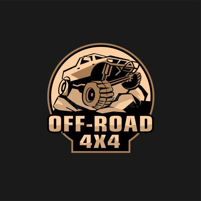 Logo fuori strada del club illustrazione di stock