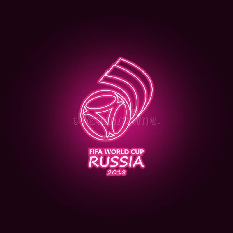 logo Futbolowego puchar świata Rosja neonowa ikona Elementy mistrzostwa 2018 set Prosta ikona dla stron internetowych, sie? proje ilustracja wektor