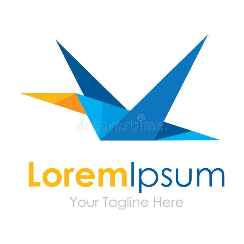 Logo géométrique étrange d'affaires d'icônes d'élément d'oiseau de vol de pixel illustration de vecteur