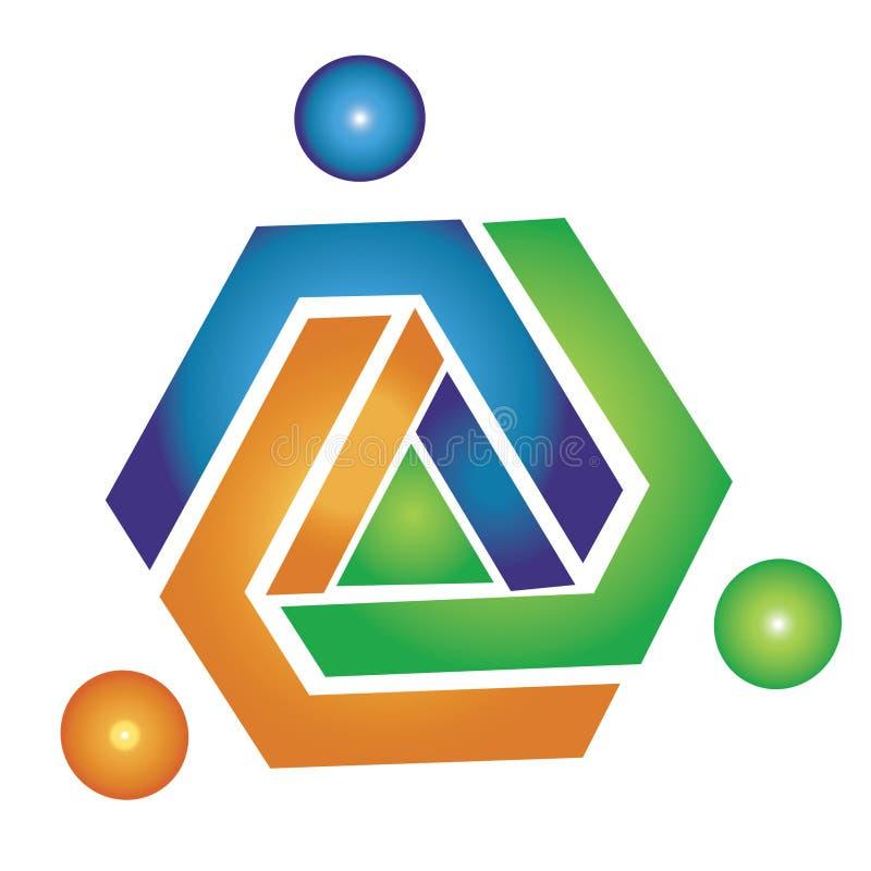 Logo géométrique d'équipe illustration de vecteur
