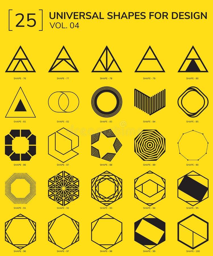 Logo géométrique de formes illustration libre de droits