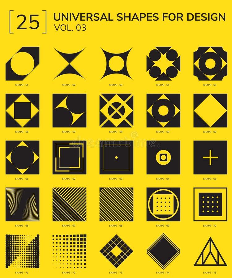 Logo géométrique de formes illustration stock