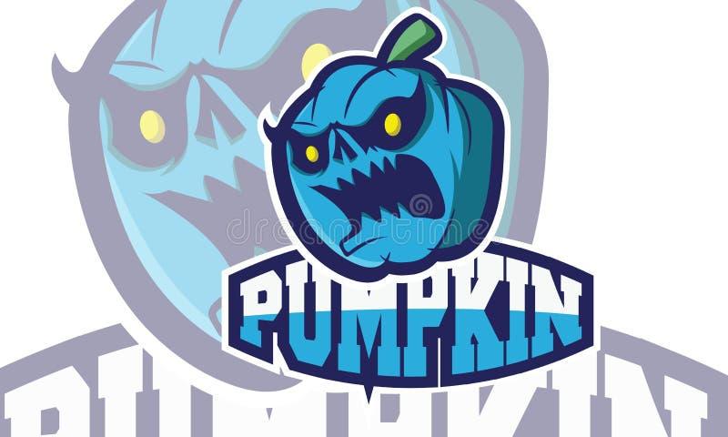 Logo Games Inspirations, logotipo da abóbora, ilustração do vetor