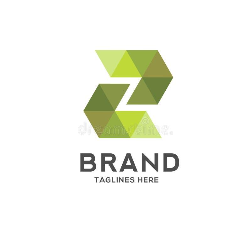 Logo geometrico variopinto della lettera z illustrazione di stock