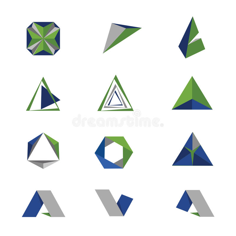Logo geometry stock photo. Image of sign, green, geometry - 40094352
