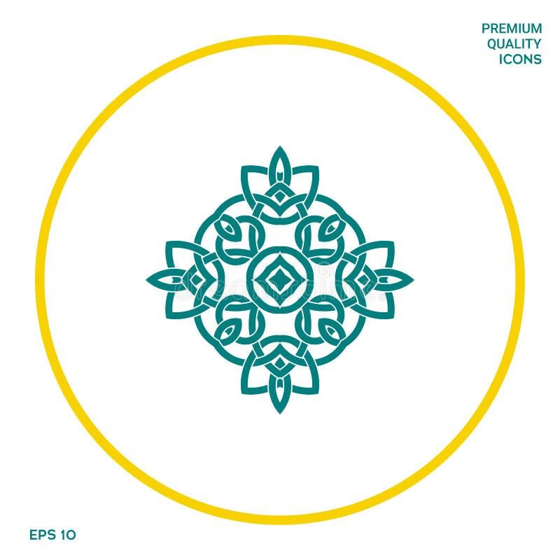 logo Geometryczny orientalny języka arabskiego wzór twój projekta element ilustracji