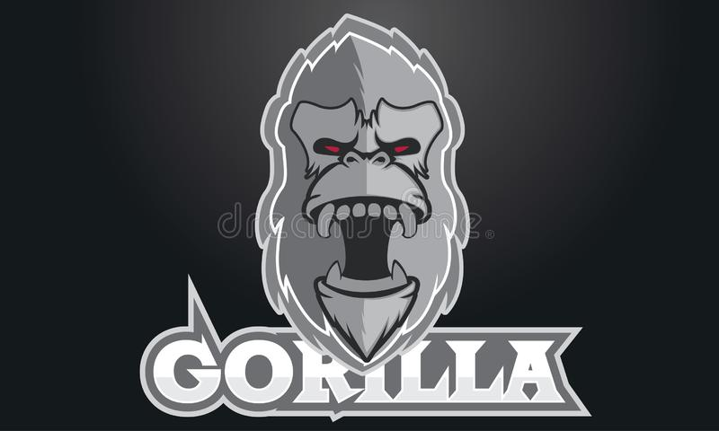 Logo gier inspiracje, Koźli logo, logo gry Bawją się, goryla logo, goryla srebro, goryl gra obraz royalty free