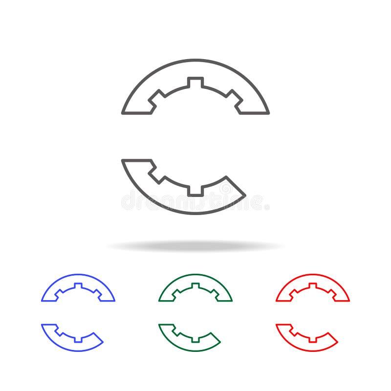 logo gier szyldowa ikona Elementy gemowy życie w wielo- barwionych ikonach Premii ilości graficznego projekta ikona Prosta ikona  ilustracja wektor