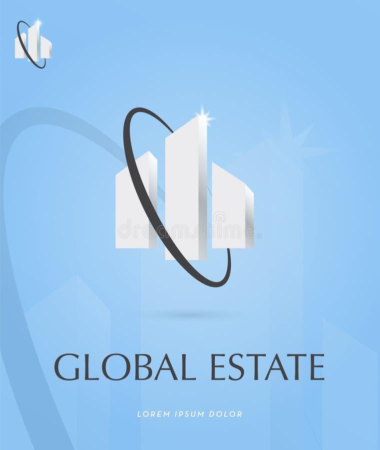 Logo global de domaine image libre de droits