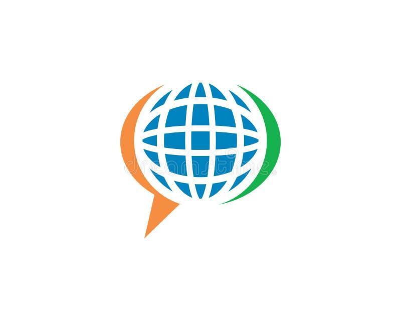 logo globale di conversazione illustrazione di stock
